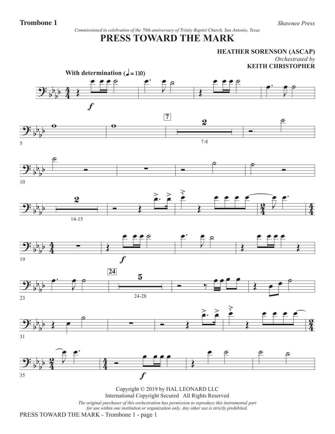 Press Toward the Mark - Trombone 1 (Choir Instrumental Pak)