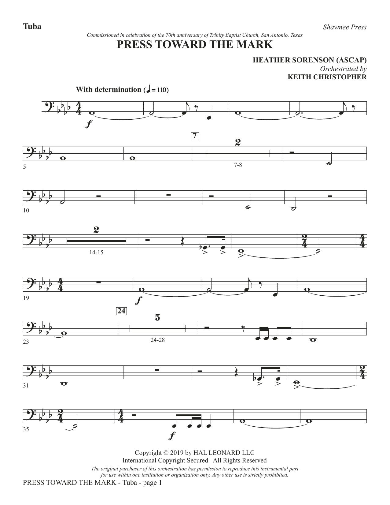 Press Toward the Mark - Tuba (Choir Instrumental Pak)