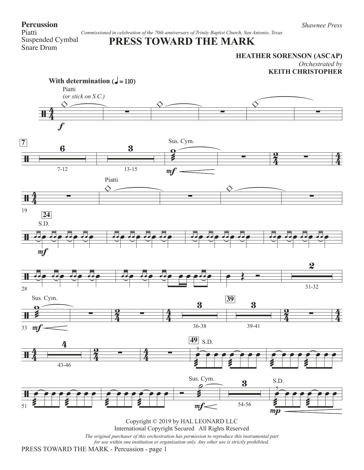 Press Toward the Mark - Percussion (Choir Instrumental Pak)