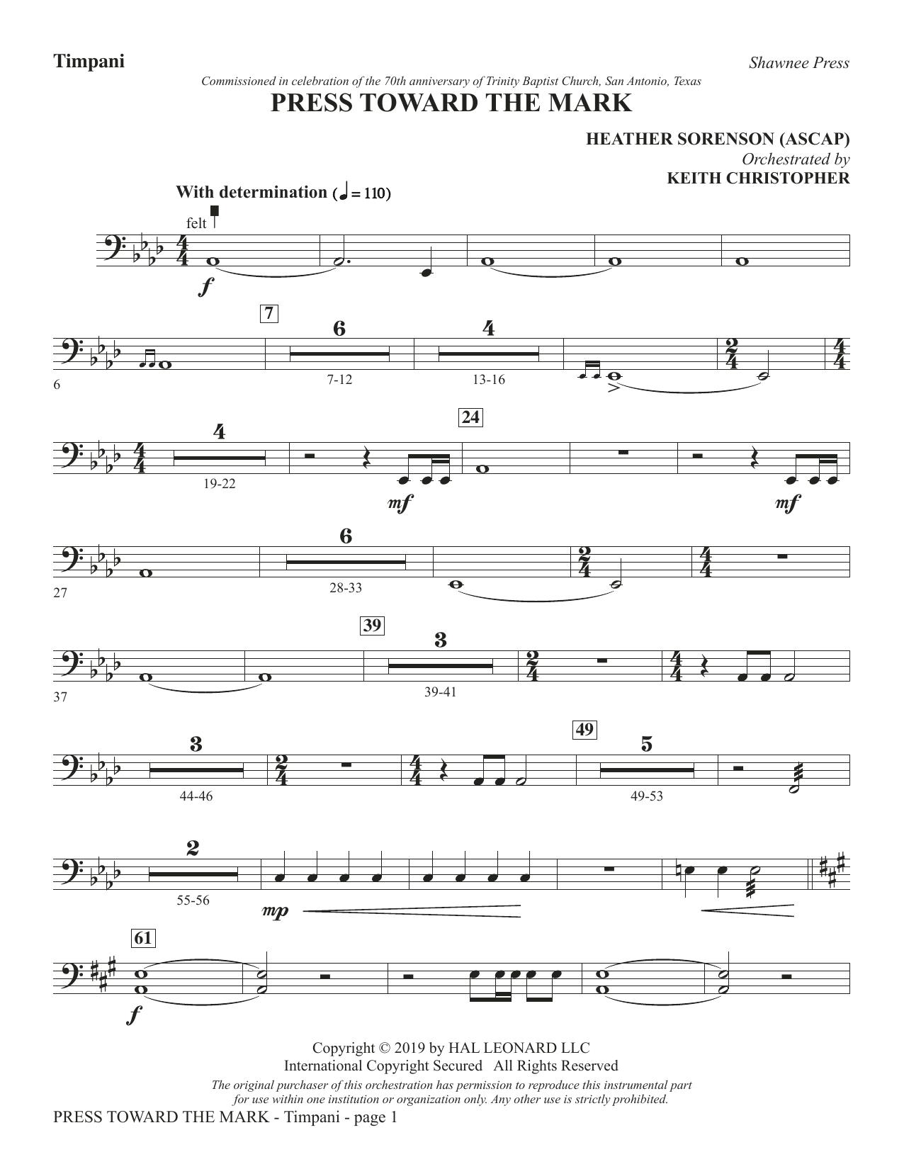 Press Toward the Mark - Timpani (Choir Instrumental Pak)