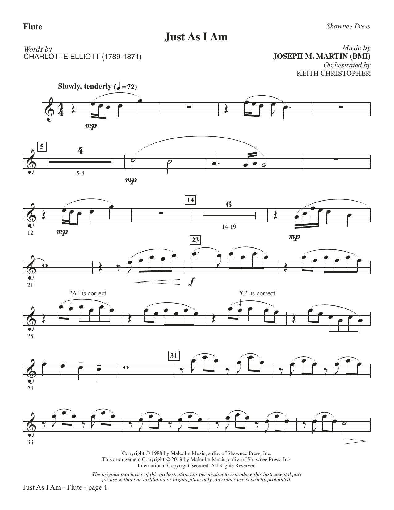 Just As I Am - Flute (Choir Instrumental Pak)