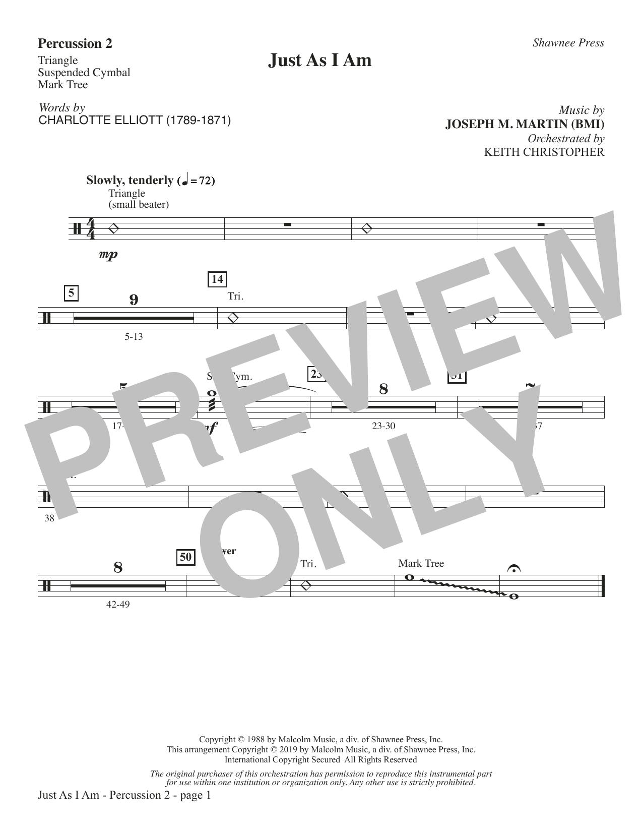Just As I Am - Percussion 2 (Choir Instrumental Pak)