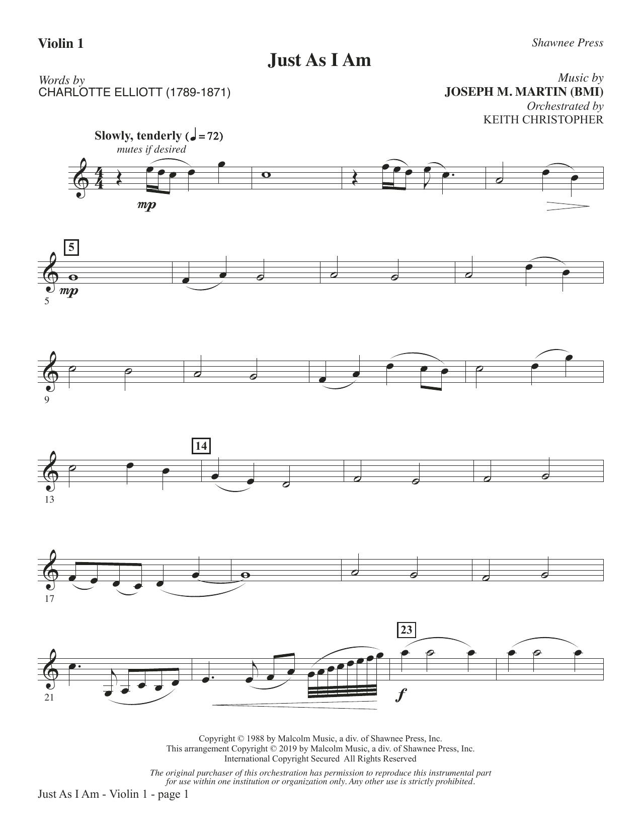 Just As I Am - Violin 1 (Choir Instrumental Pak)