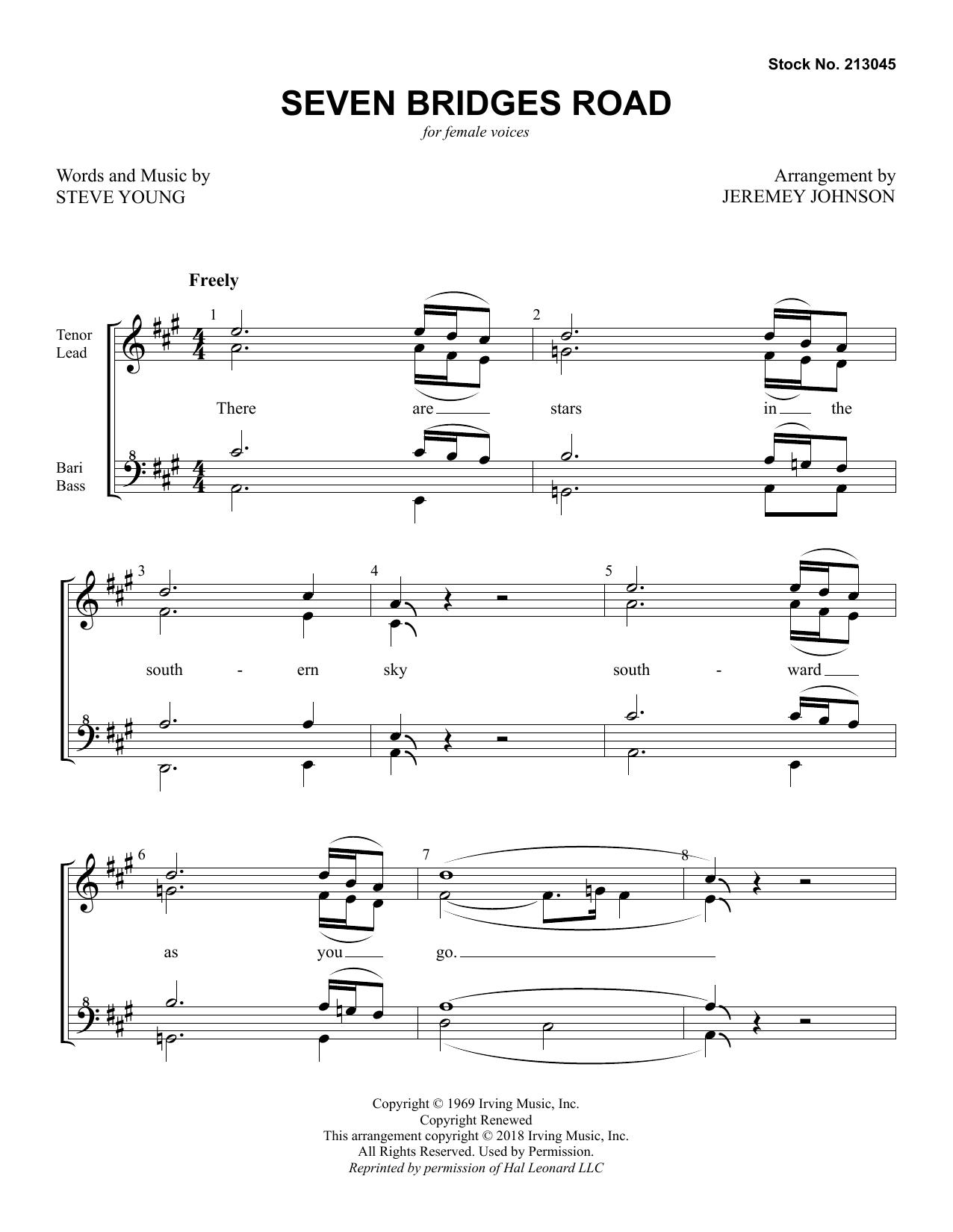 Seven Bridges Road (arr. Jeremey Johnson) (SSA Choir)