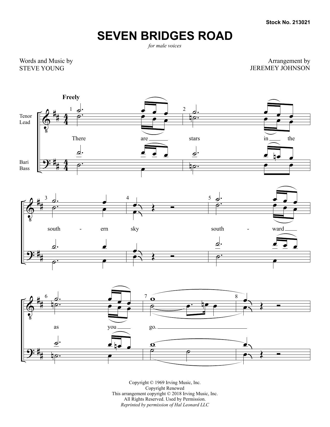 Seven Bridges Road (arr. Jeremey Johnson) (TTBB Choir)