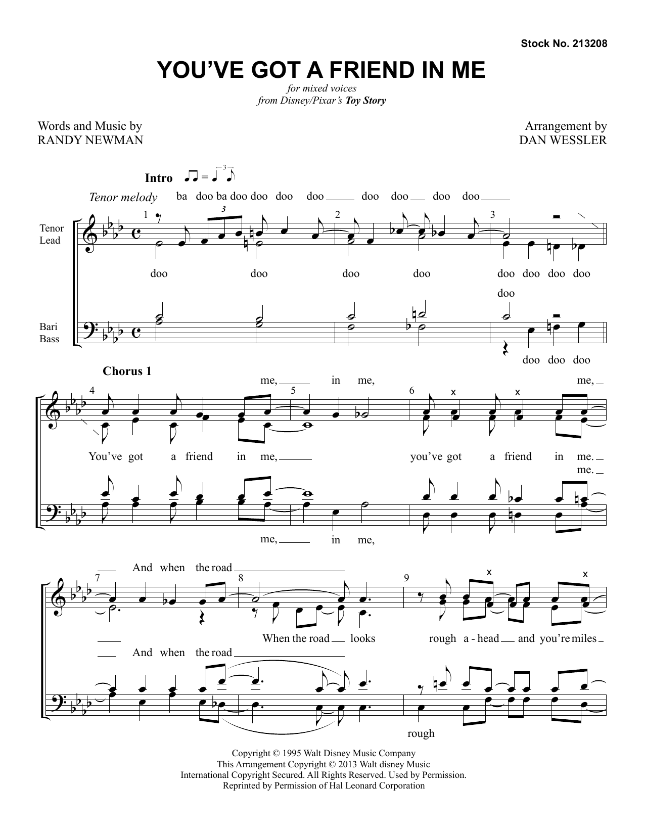 You've Got A Friend In Me (from Toy Story) (arr. Dan Wessler) Partition Digitale