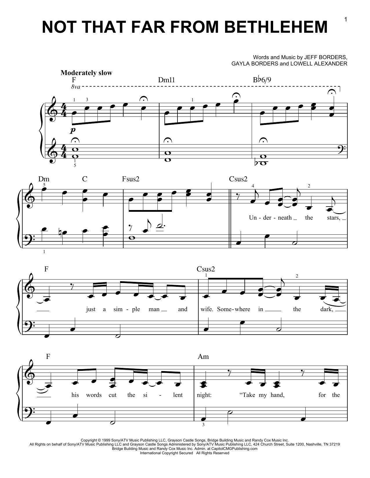 Not That Far From Bethlehem (Easy Piano)