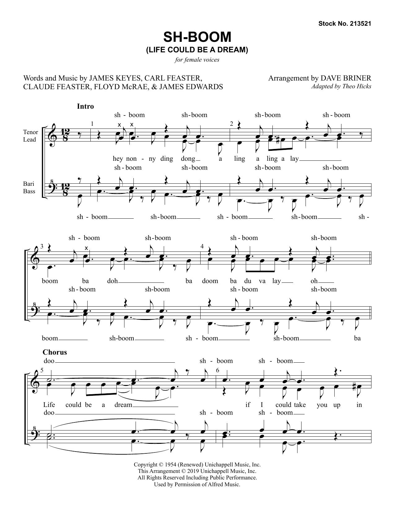 Sh-Boom (Life Could Be A Dream) (arr. Dave Briner) (SSAA Choir)