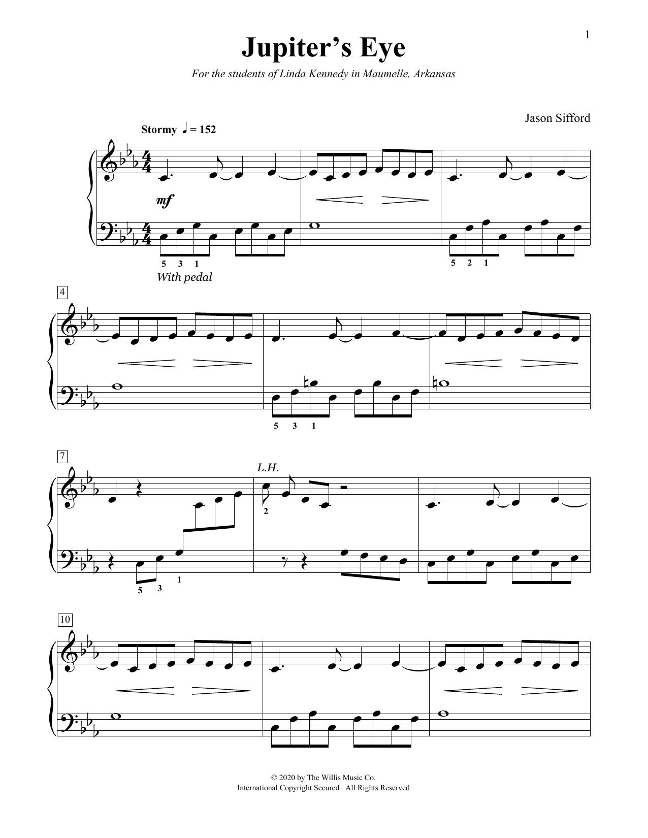 Jupiter's Eye (Educational Piano)