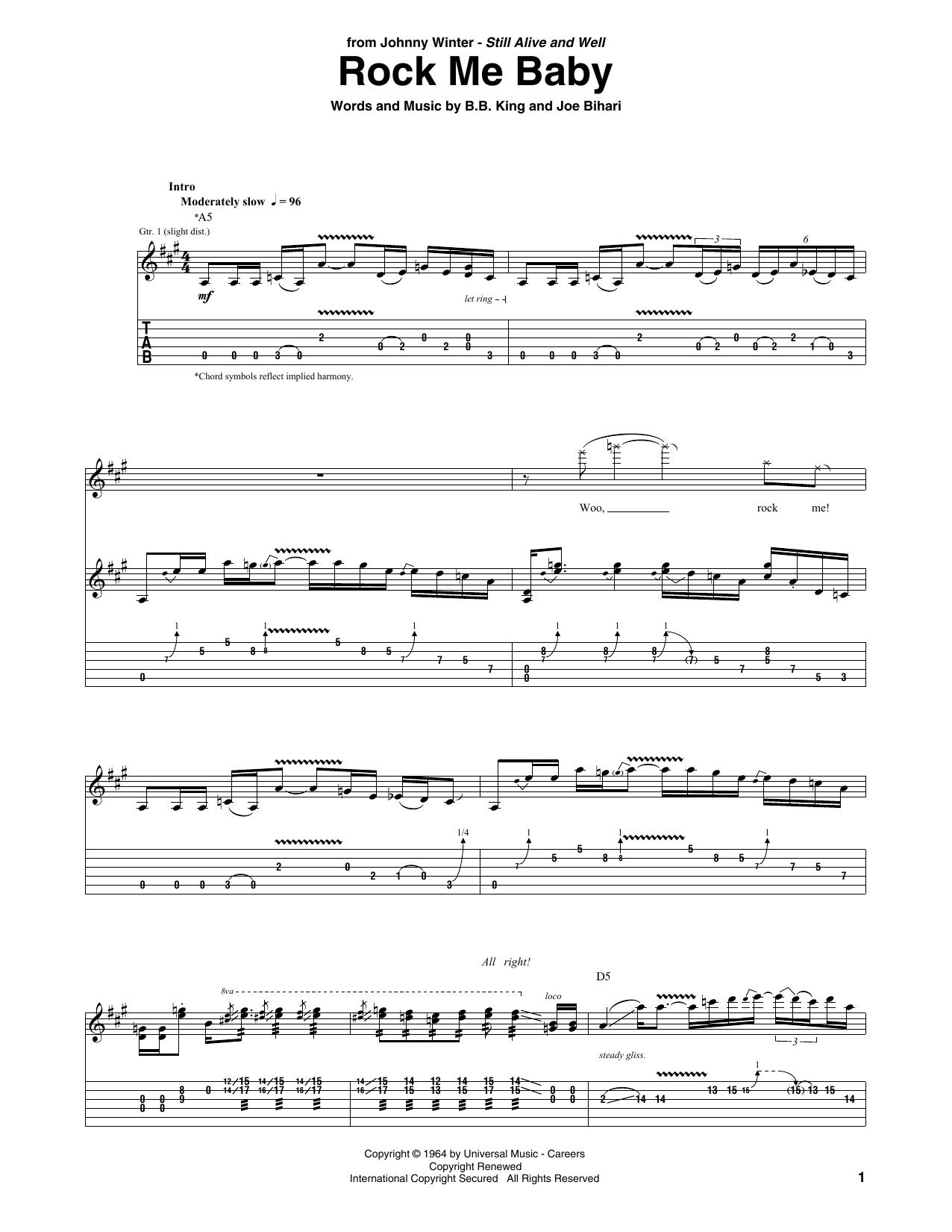 Rock Me Baby (Guitar Tab)