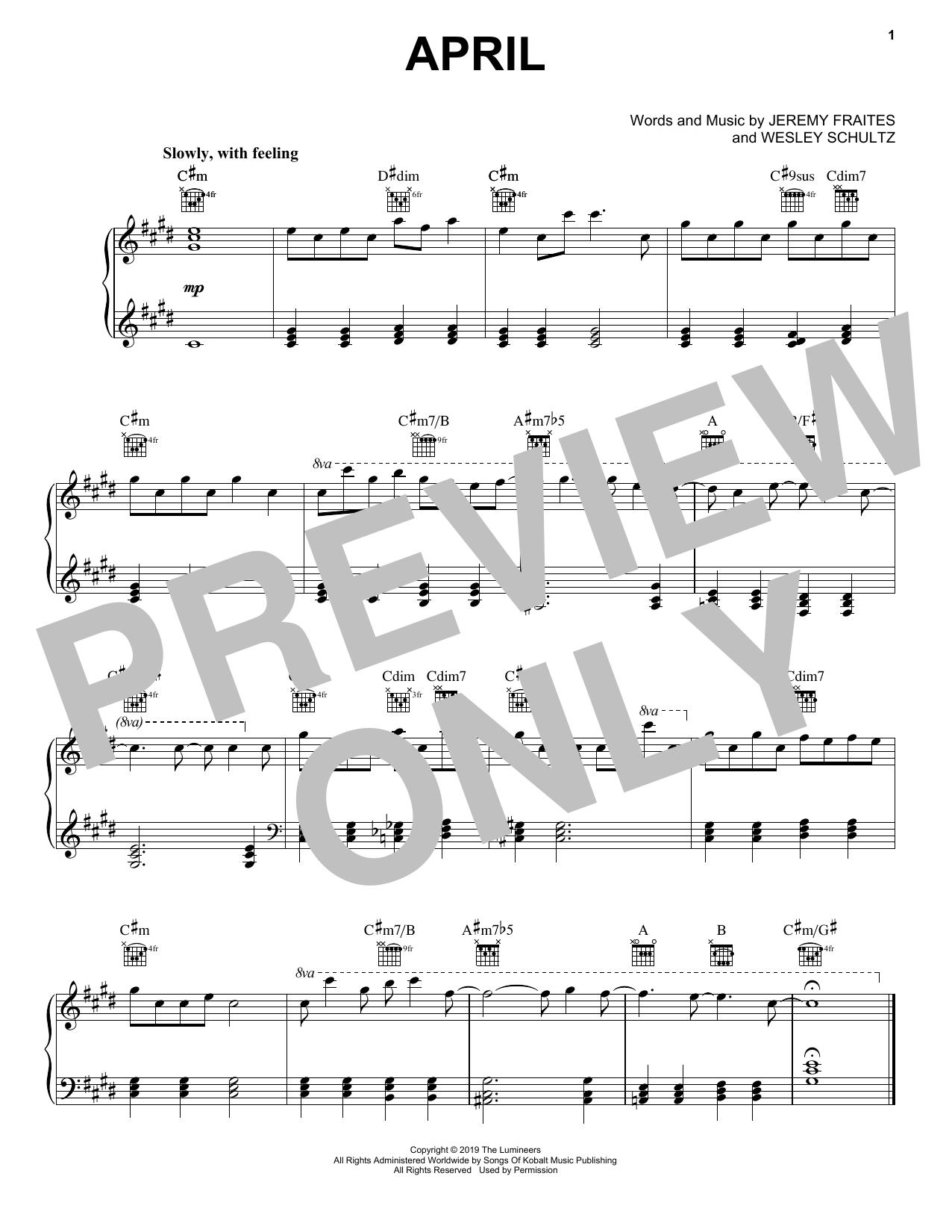 April (Piano Solo)