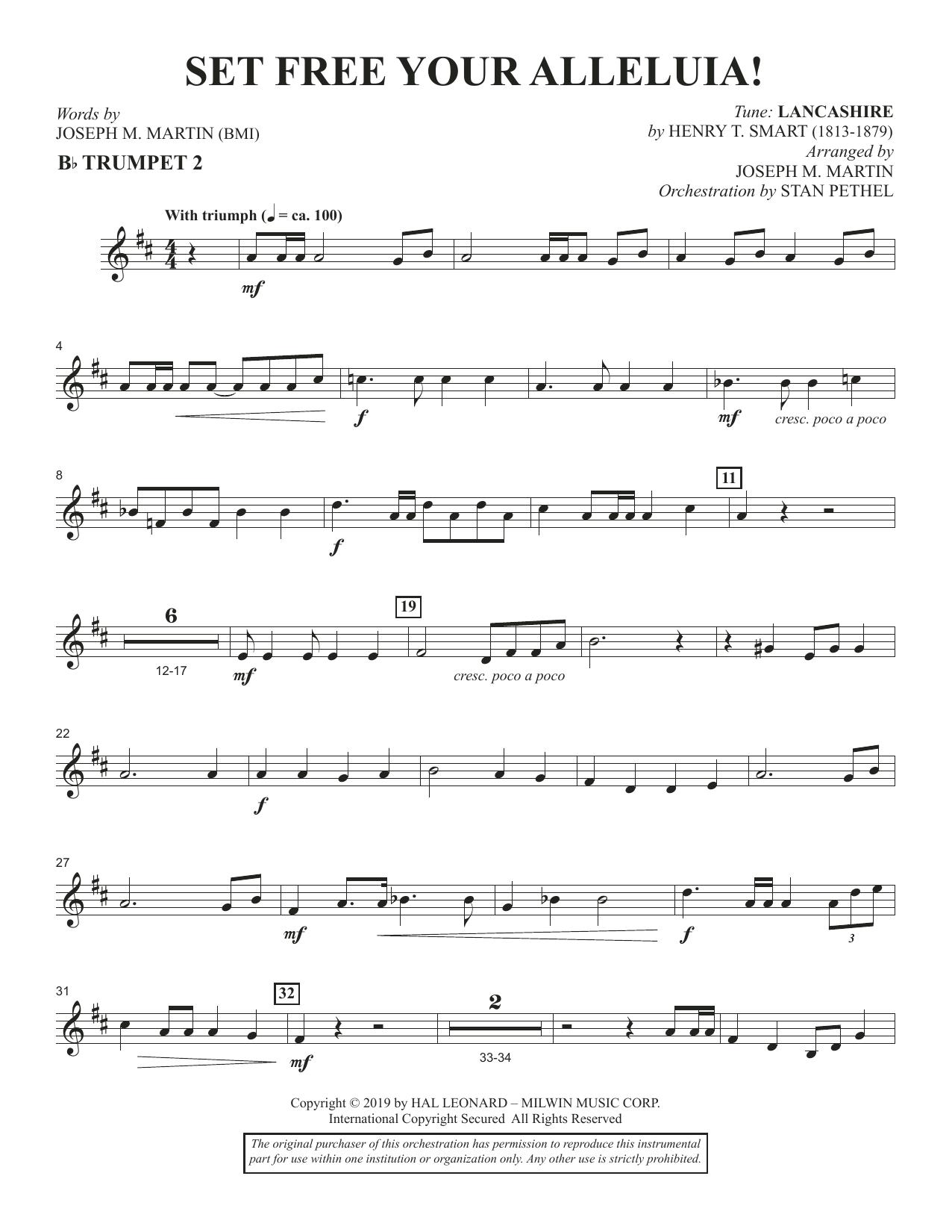 Set Free Your Alleluia! - Bb Trumpet 2 (Choir Instrumental Pak)