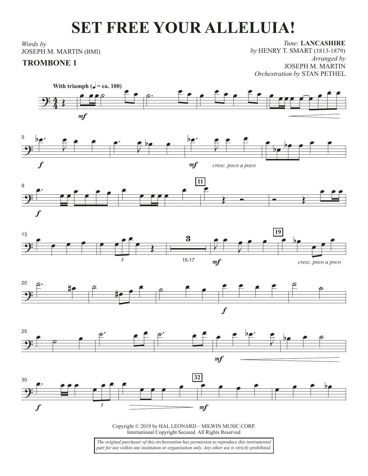Set Free Your Alleluia! - Trombone 1 (Choir Instrumental Pak)