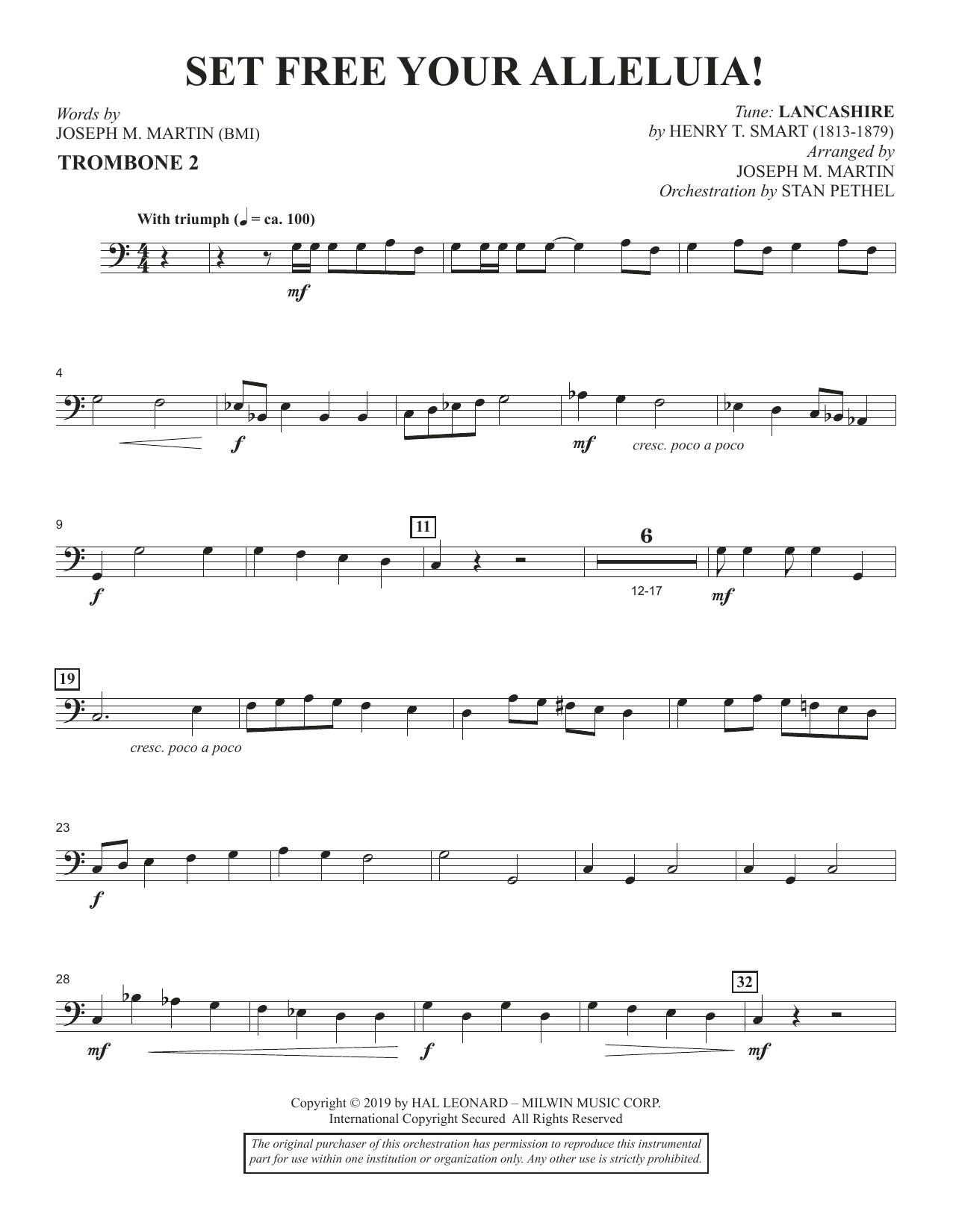 Set Free Your Alleluia! - Trombone 2 (Choir Instrumental Pak)