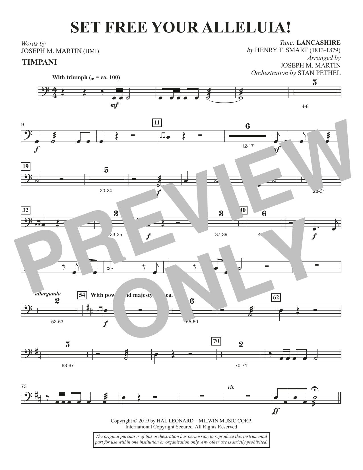 Set Free Your Alleluia! - Timpani (Choir Instrumental Pak)