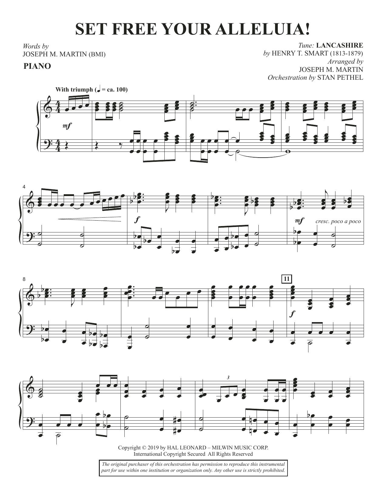 Set Free Your Alleluia! - Piano (Choir Instrumental Pak)