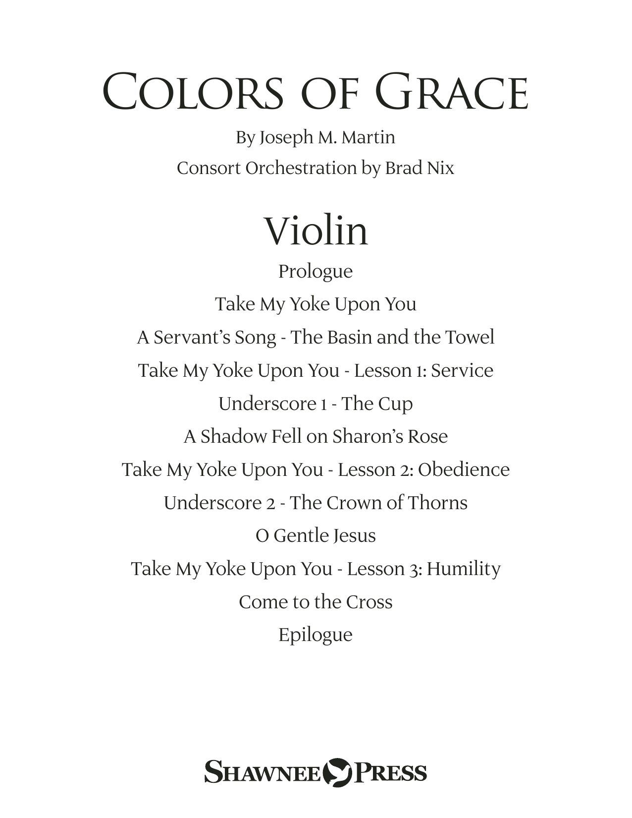 Colors of Grace - Lessons for Lent (New Edition) (Consort) - Violin Sheet Music
