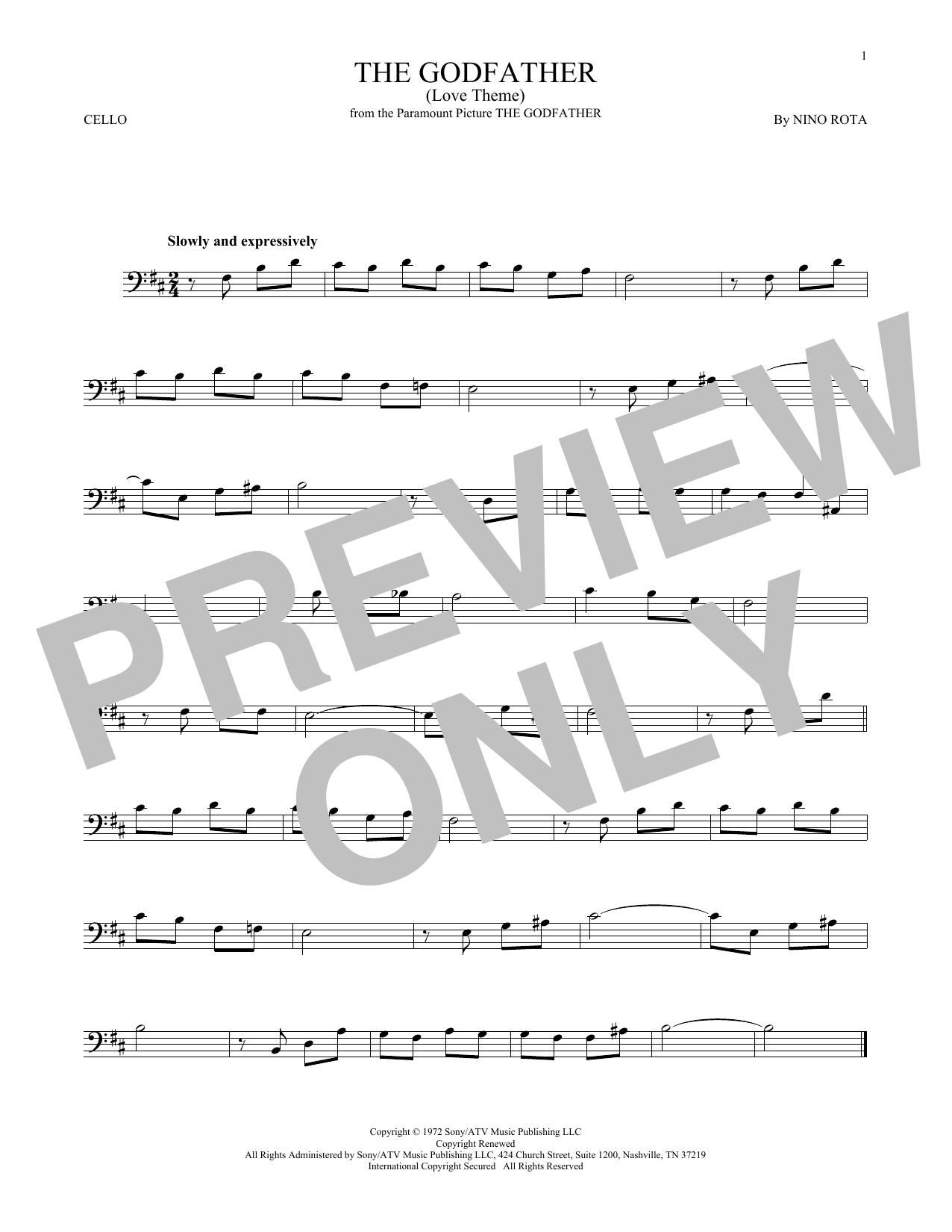 The Godfather (Love Theme) (Cello Solo)