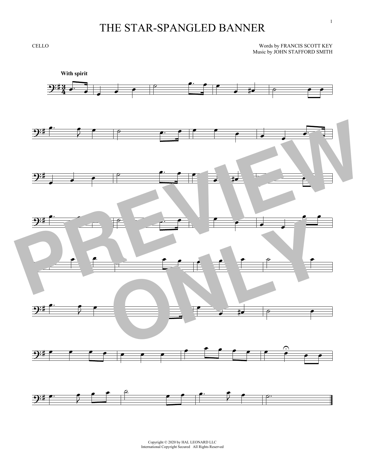 The Star-Spangled Banner (Cello Solo)
