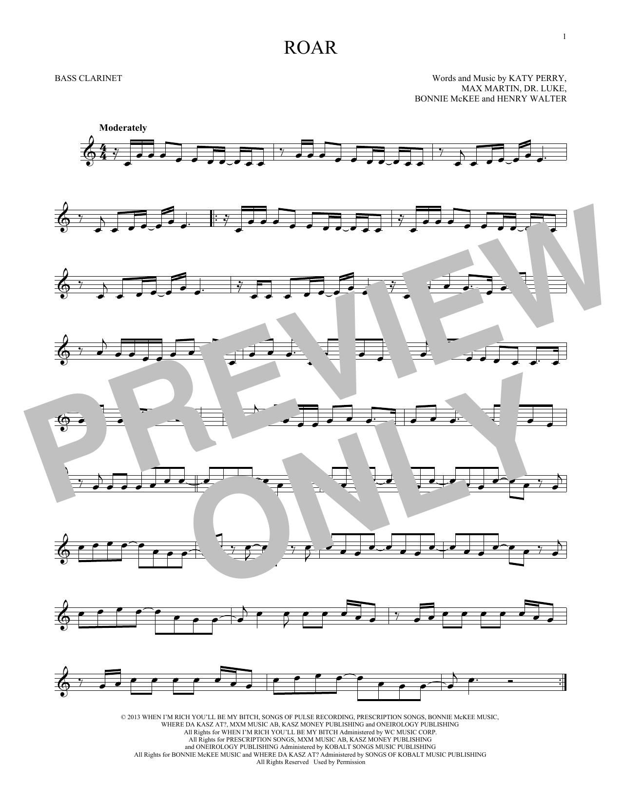 Roar (Bass Clarinet Solo)