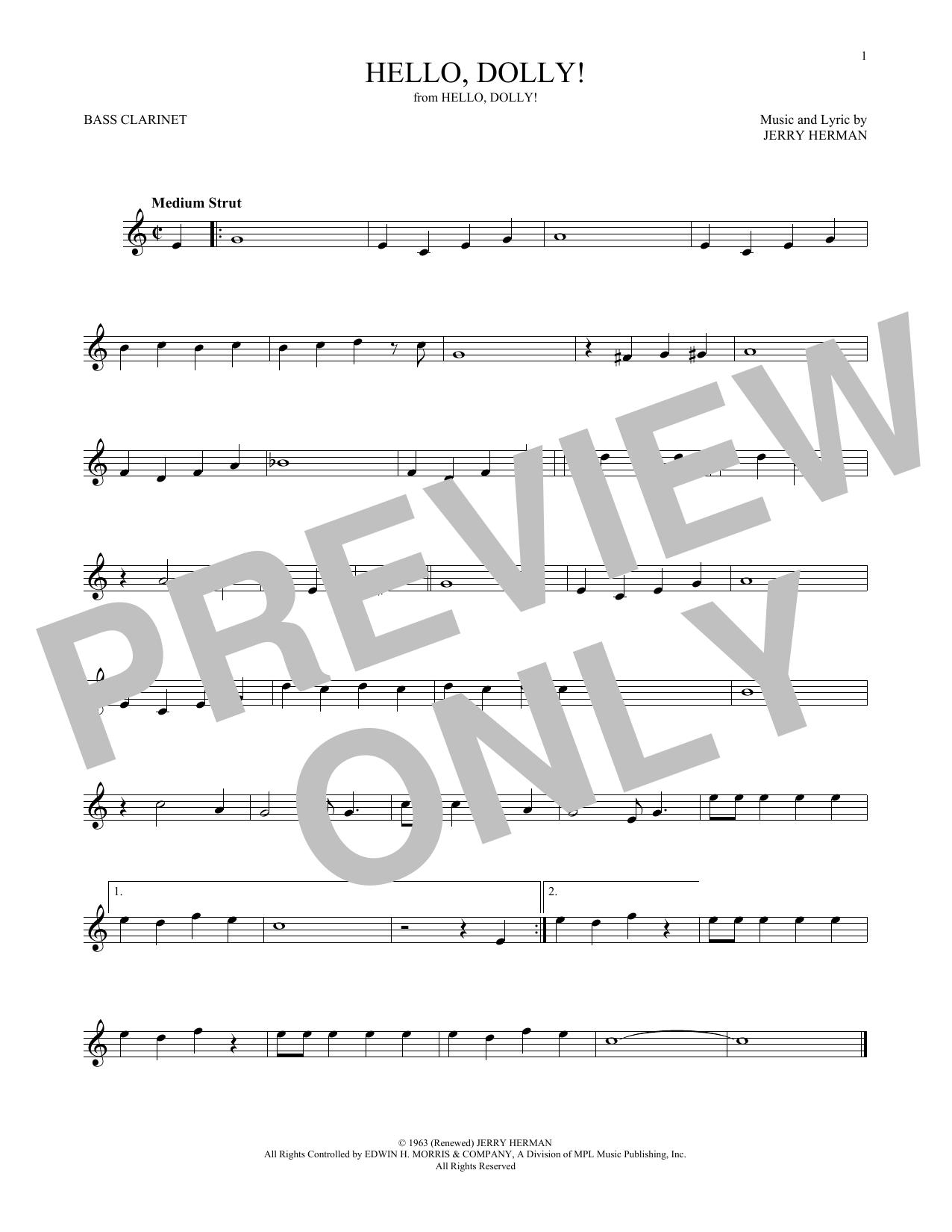 Hello, Dolly! (Bass Clarinet Solo)