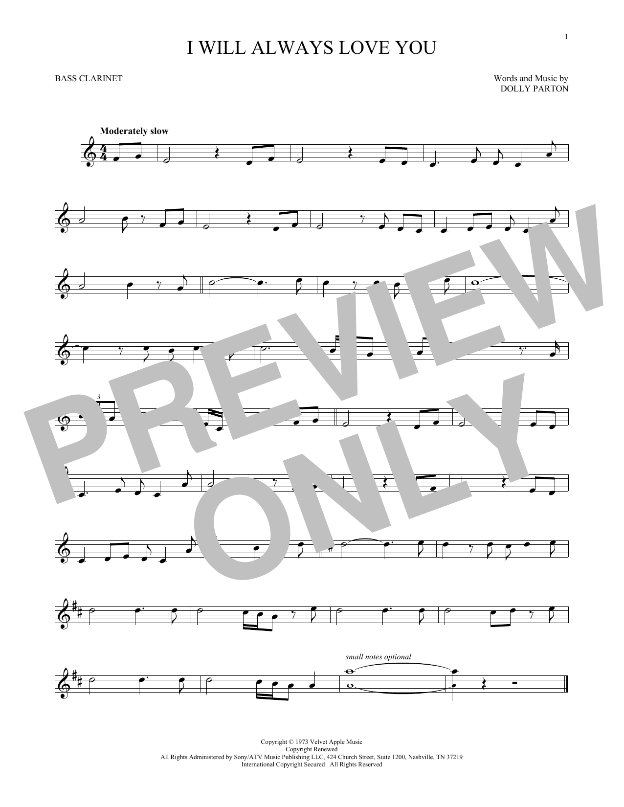 I Will Always Love You (Bass Clarinet Solo)