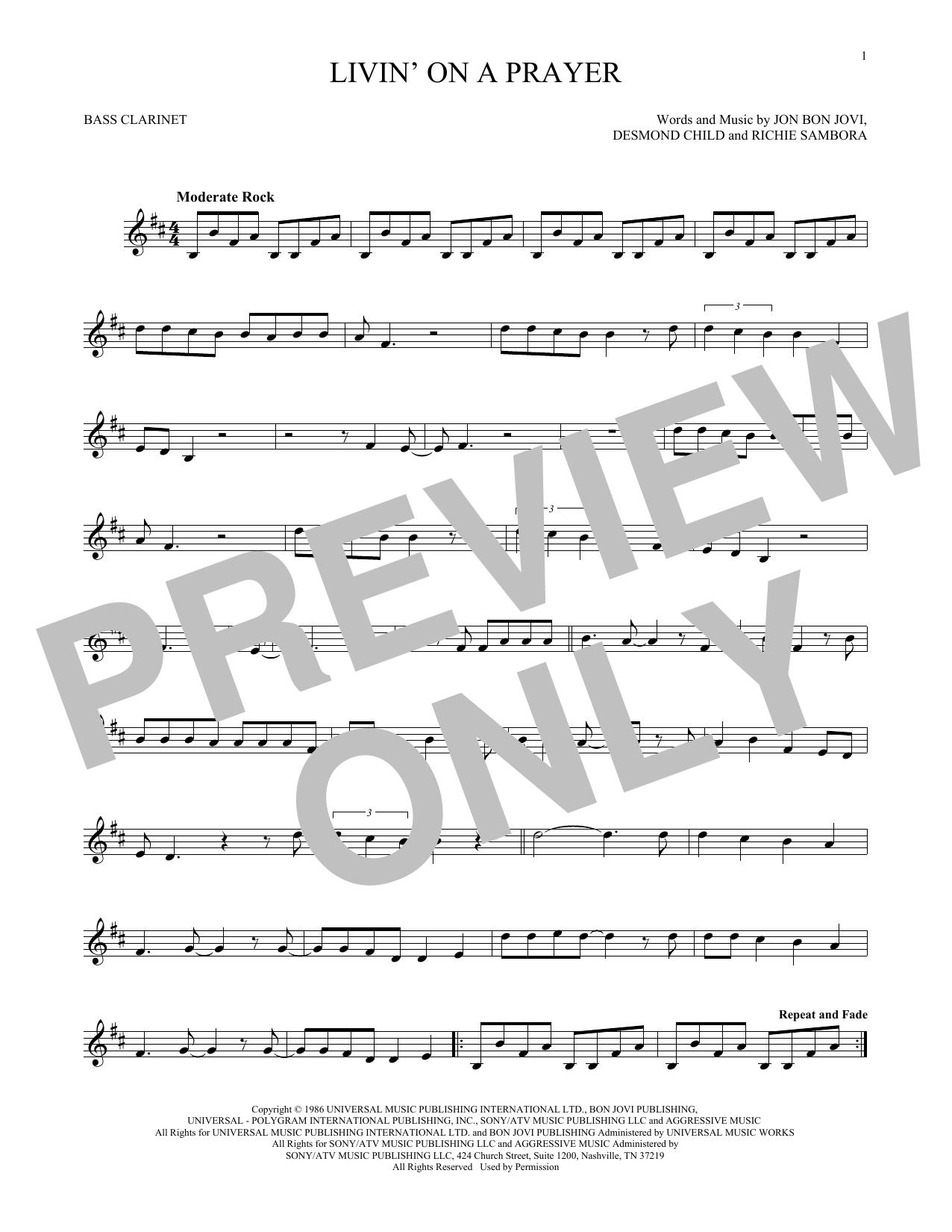 Livin' On A Prayer (Bass Clarinet Solo)