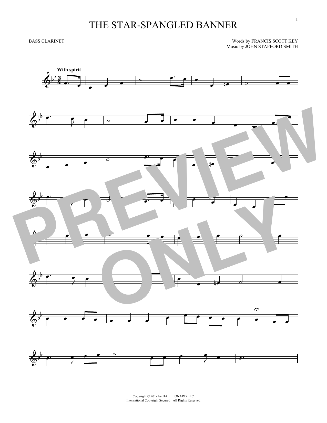 The Star-Spangled Banner (Bass Clarinet Solo)