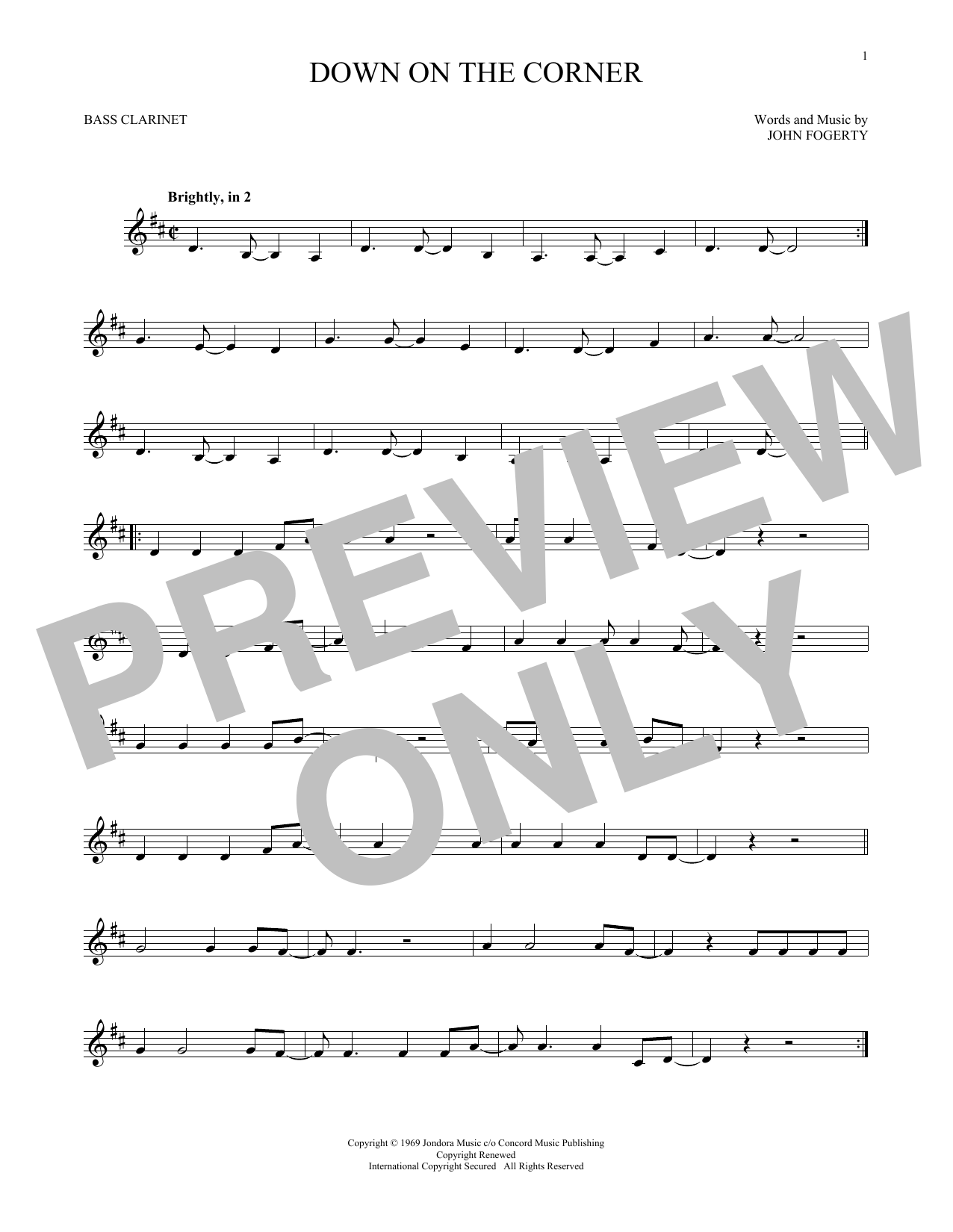 Down On The Corner (Bass Clarinet Solo)