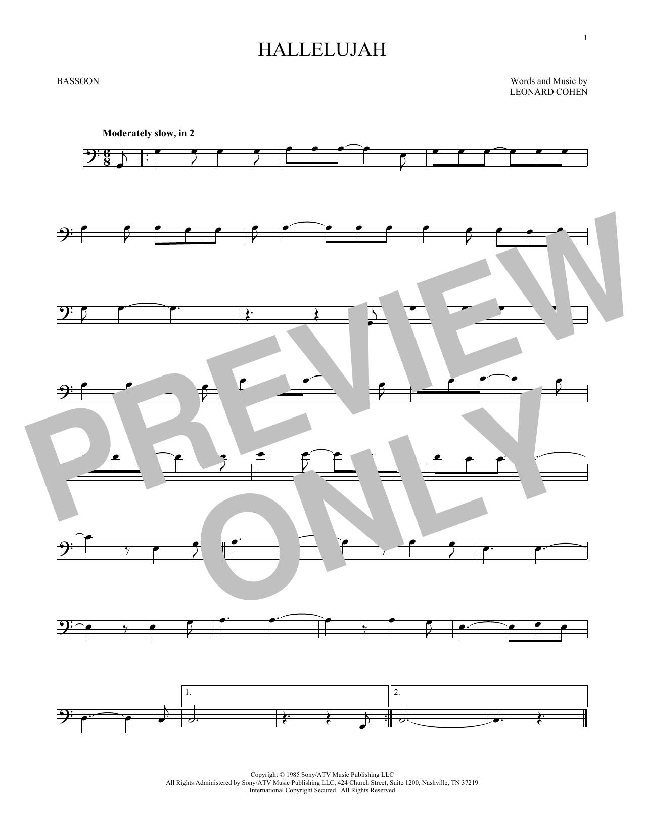Hallelujah (Bassoon Solo)