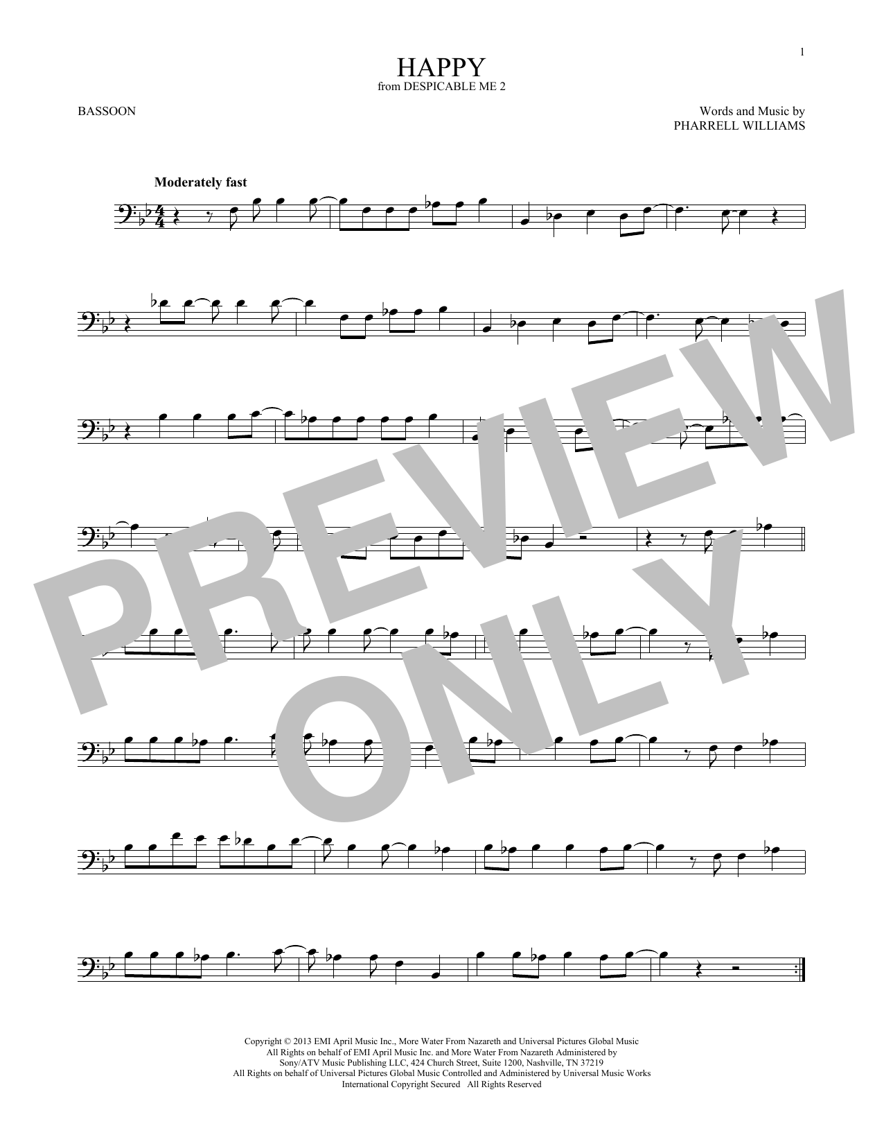 Happy (from Despicable Me 2) (Bassoon Solo)