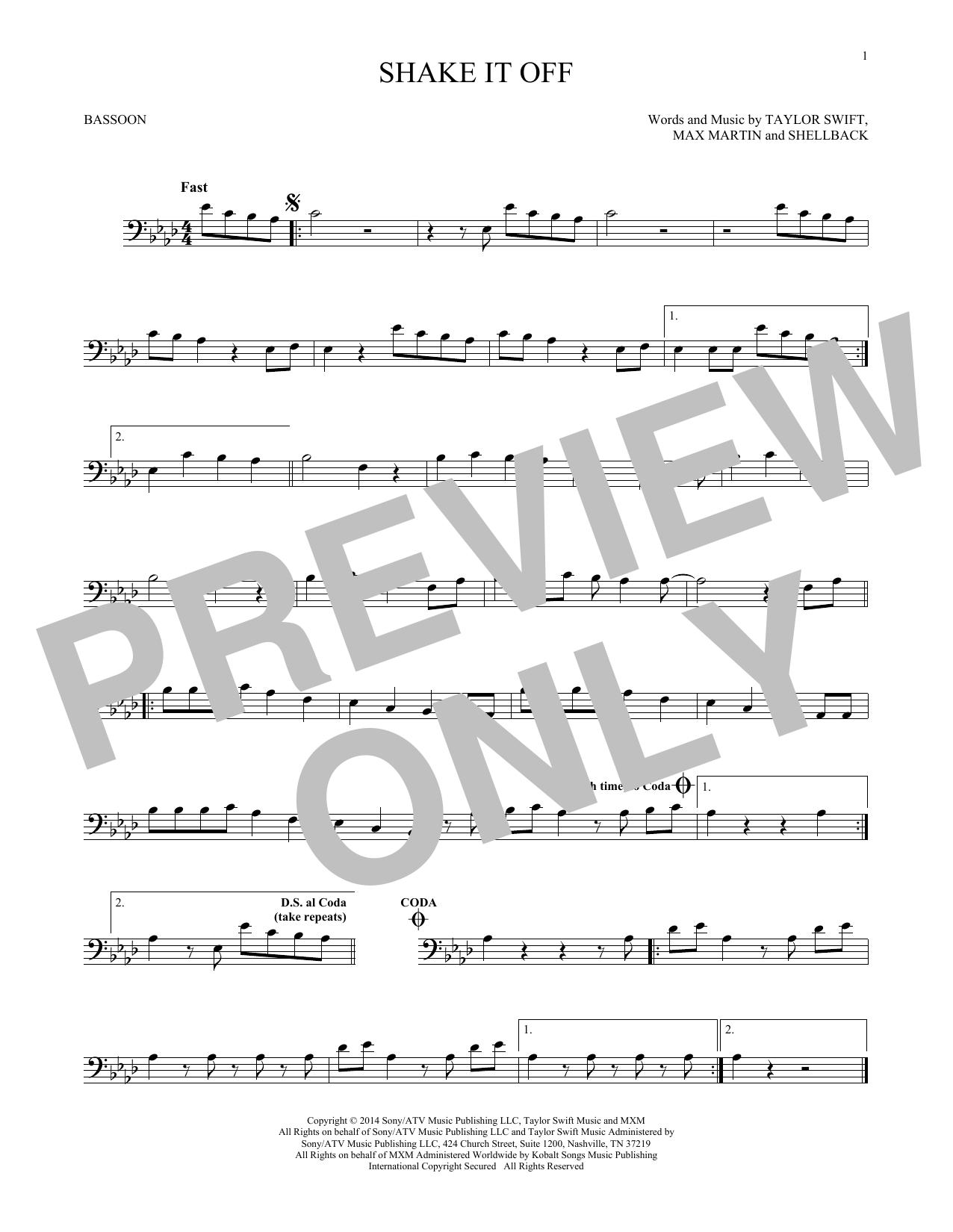 Shake It Off (Bassoon Solo)