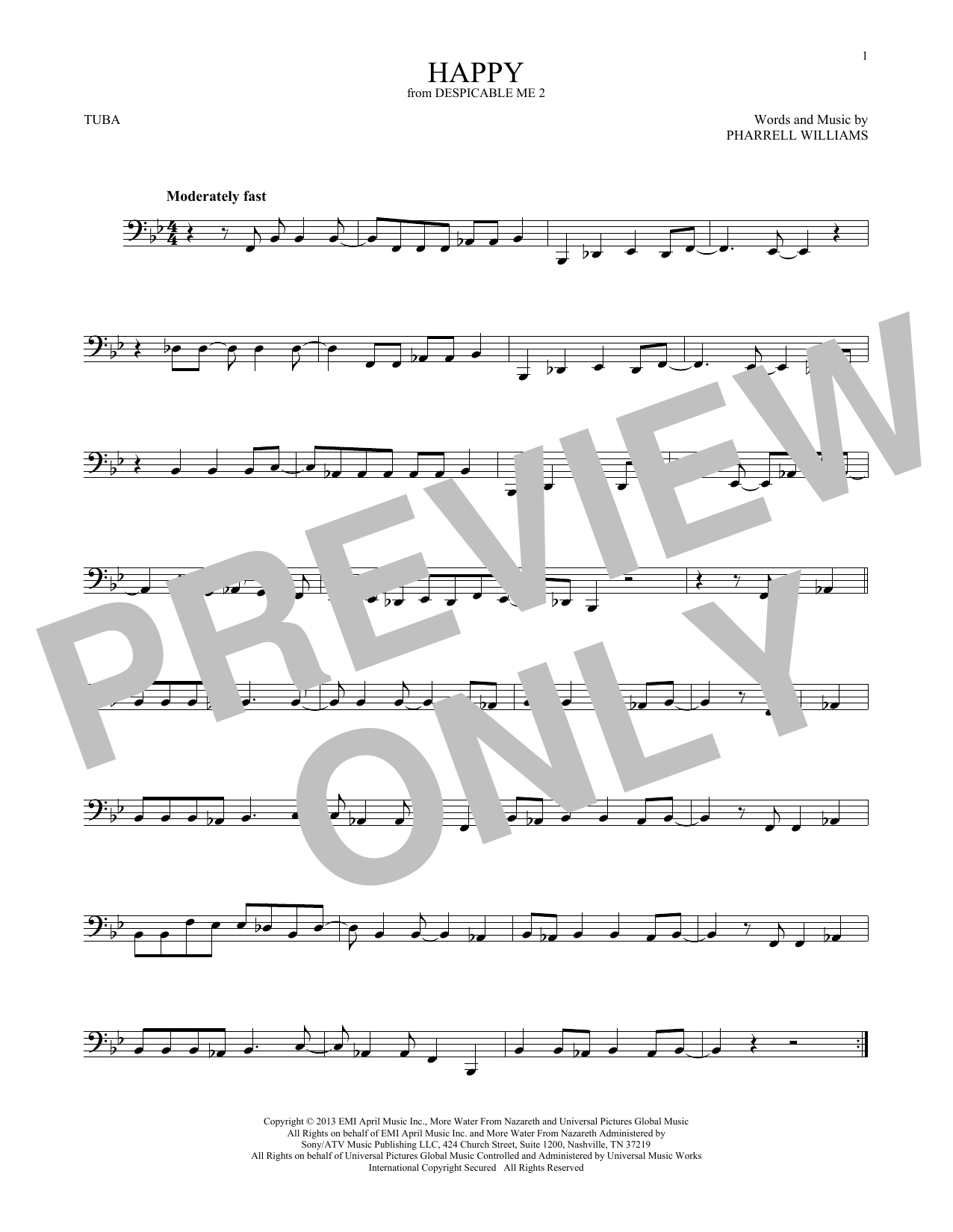 Happy (from Despicable Me 2) (Tuba Solo)