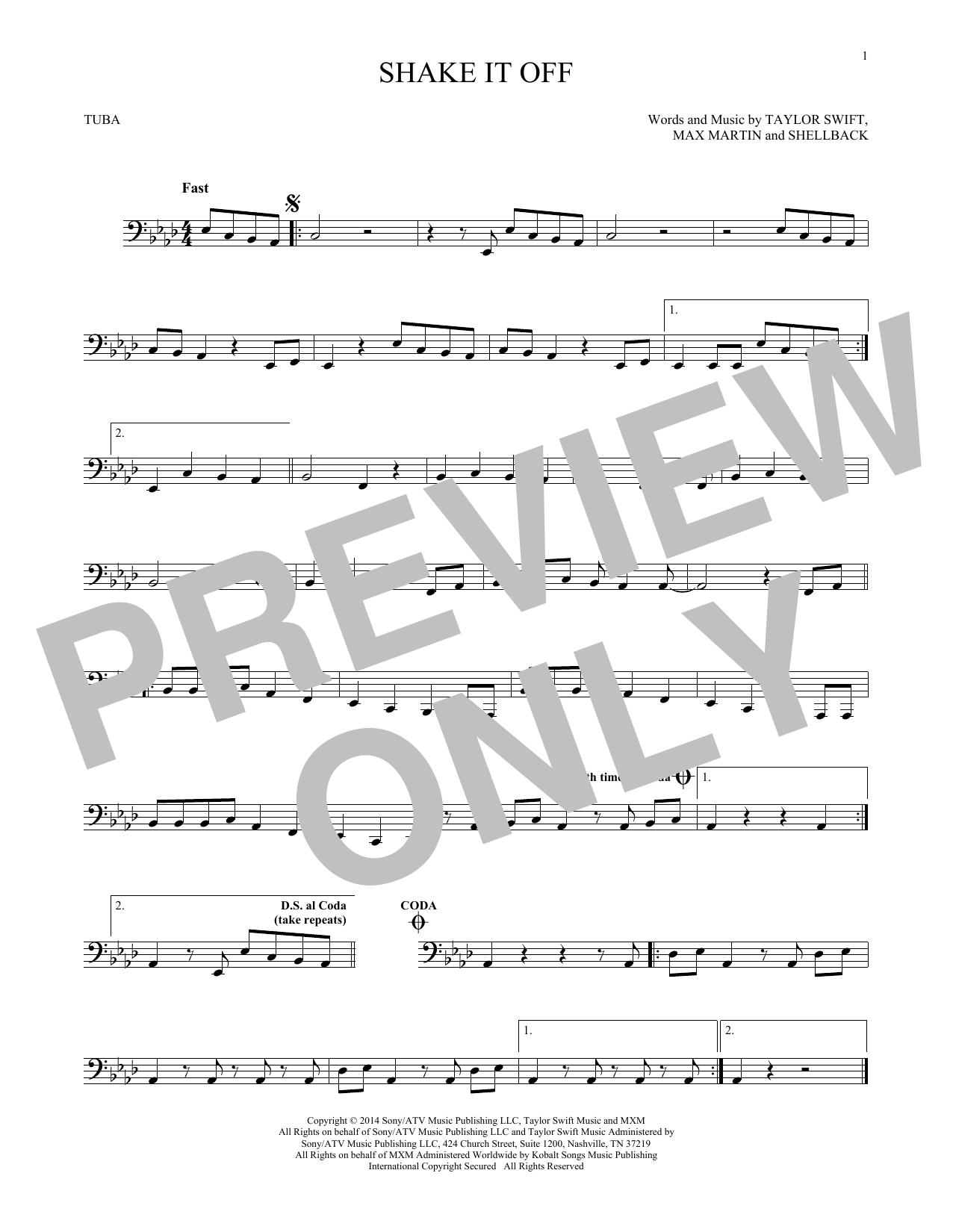 Shake It Off (Tuba Solo)