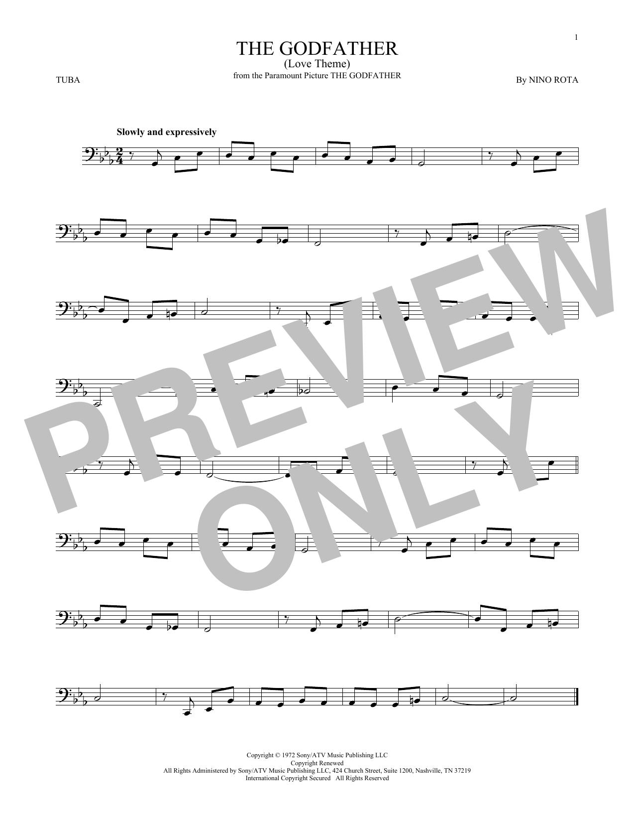 The Godfather (Love Theme) (Tuba Solo)