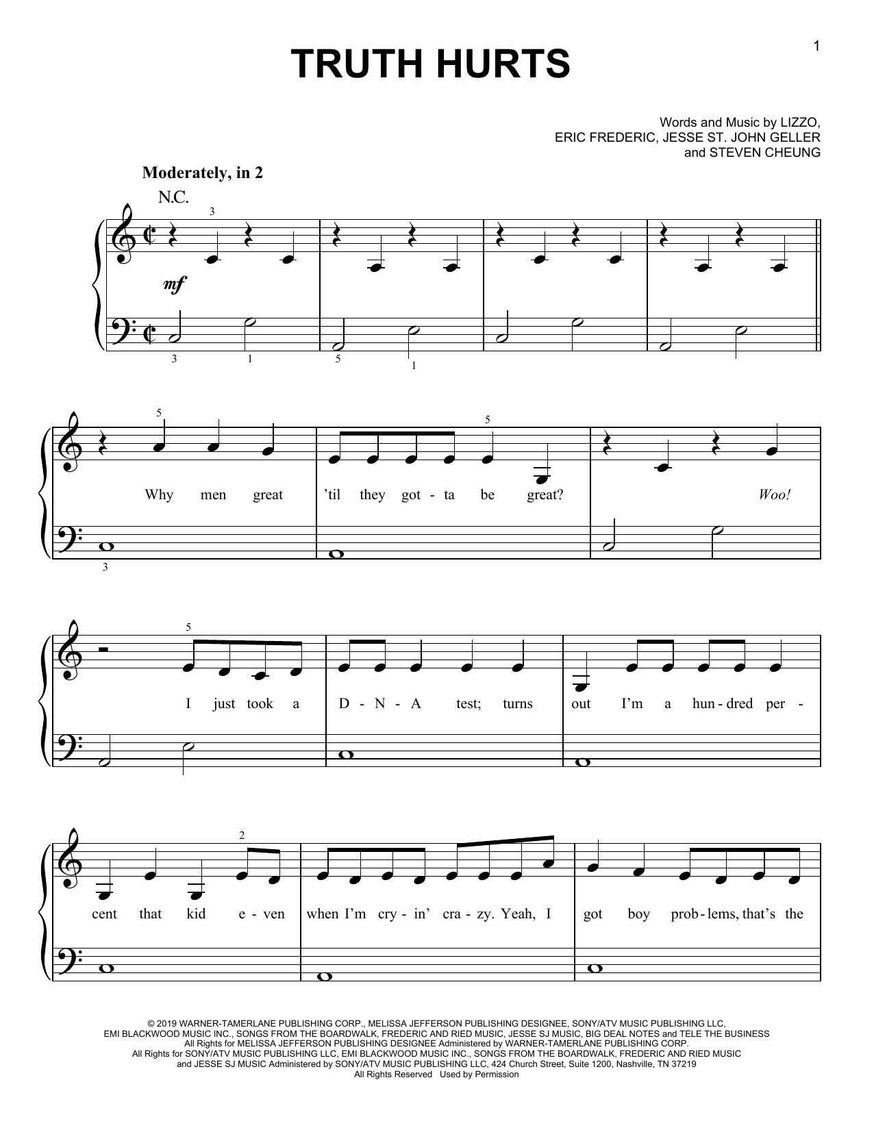 Truth Hurts (Very Easy Piano)