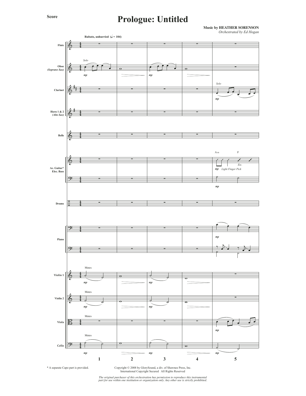 What Wondrous Hope (A Service of Promise, Grace and Life) - Full Score (Choir Instrumental Pak)