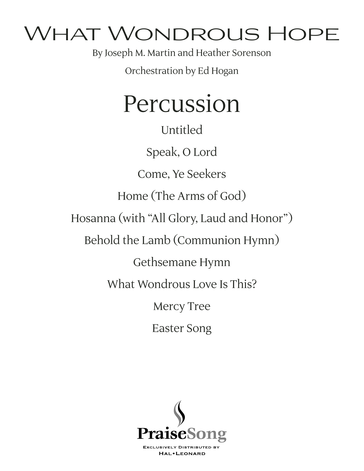 What Wondrous Hope (A Service of Promise, Grace and Life) - Percussion (Choir Instrumental Pak)
