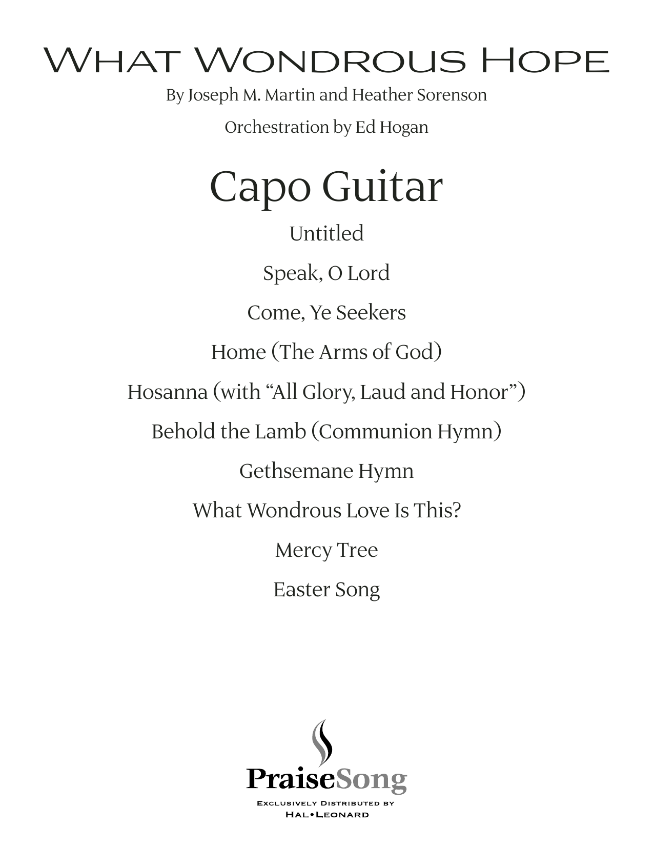 What Wondrous Hope (A Service of Promise, Grace and Life) - Capo Guitar (Choir Instrumental Pak)