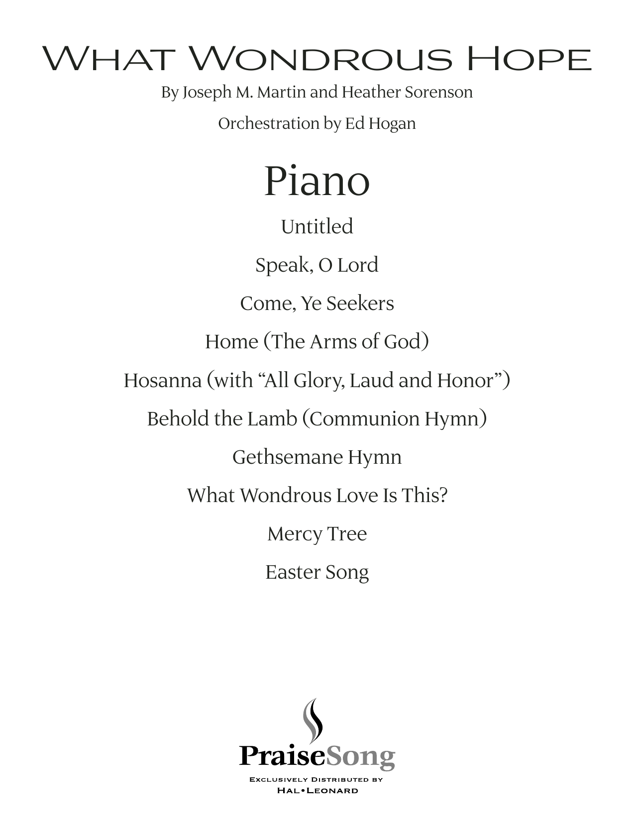 What Wondrous Hope (A Service of Promise, Grace and Life) - Piano (Choir Instrumental Pak)