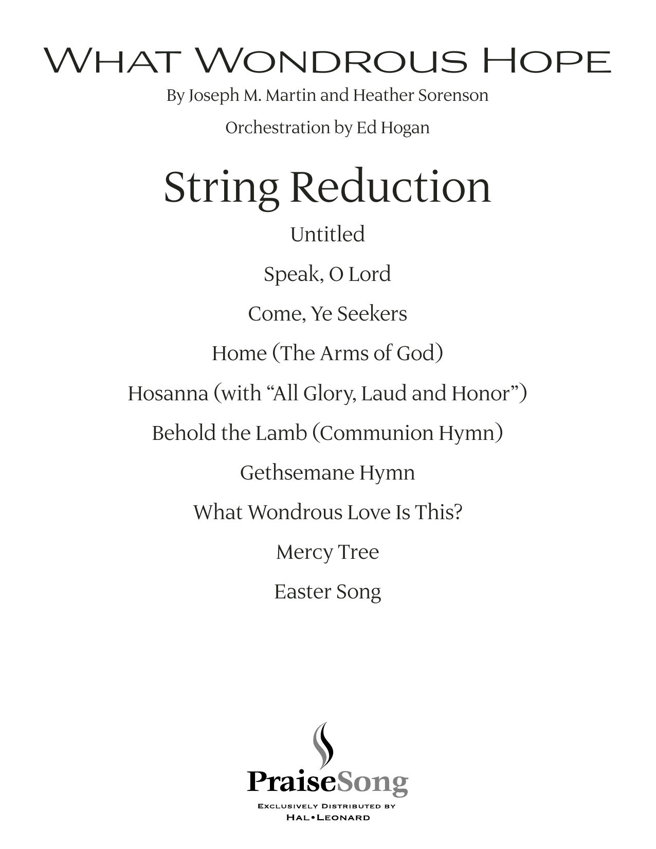 What Wondrous Hope (A Service of Promise, Grace and Life) - Keyboard String Reduction (Choir Instrumental Pak)