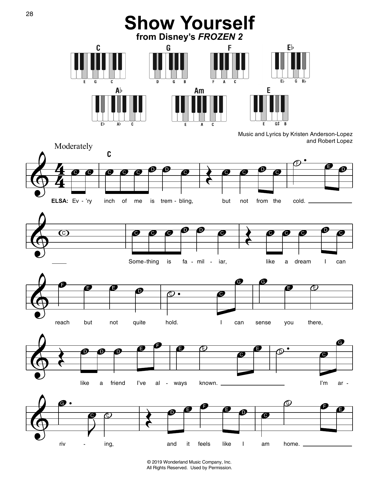 Show Yourself (from Disney's Frozen 2) Sheet Music
