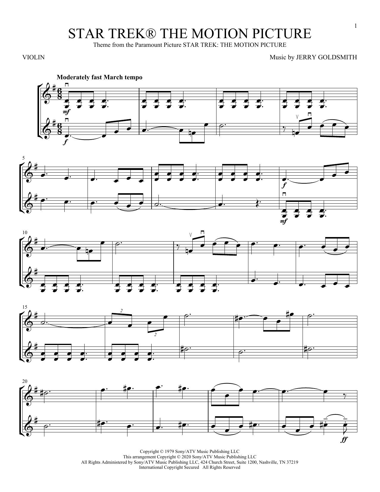 Star Trek The Motion Picture (Violin Duet)