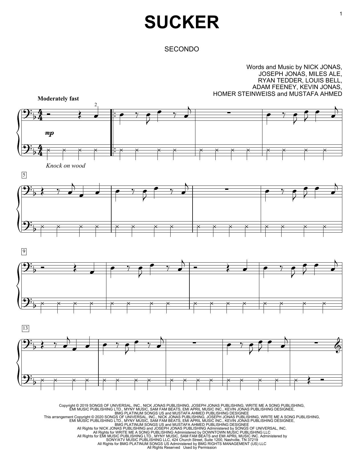 Sucker (arr. David Pearl) (Piano Duet)