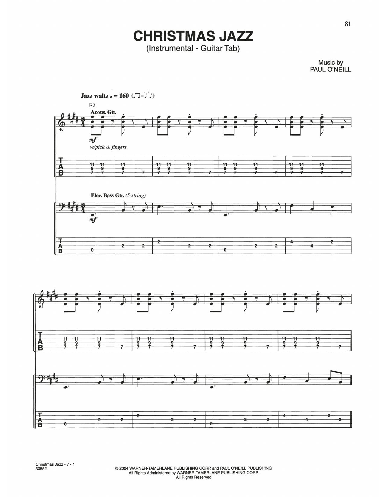 Christmas Jazz (Guitar Tab)