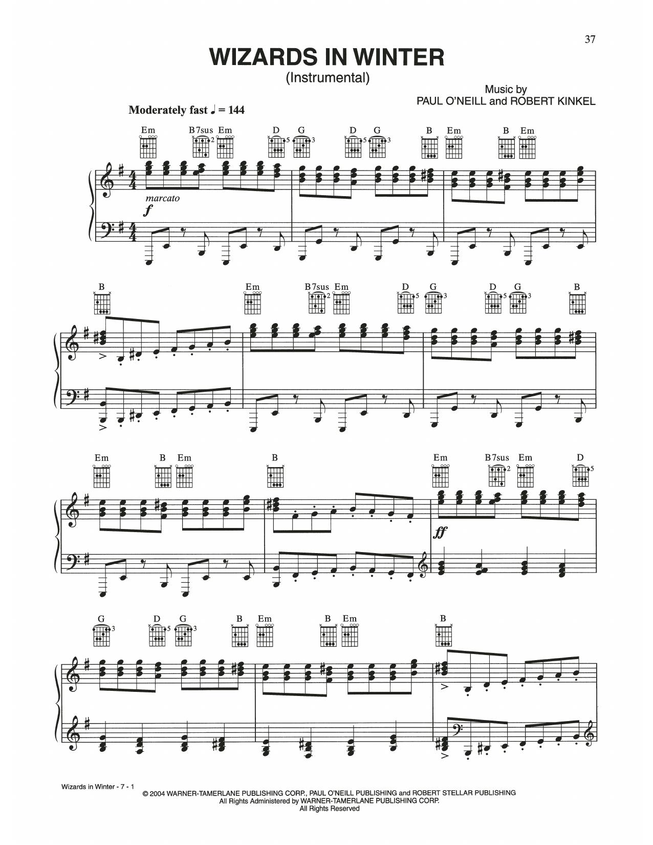 Wizards In Winter (Piano Solo)
