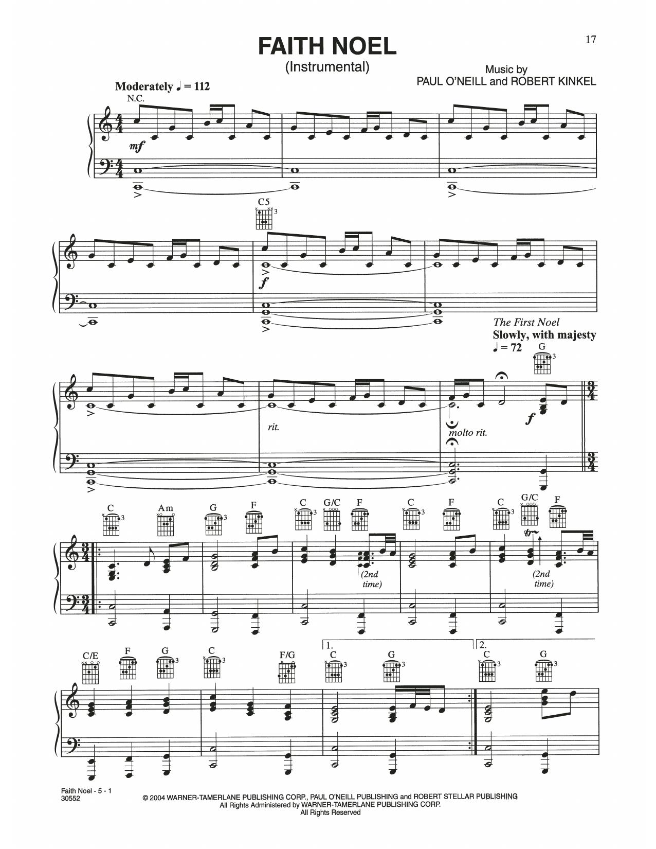 Faith Noel (Piano Solo)