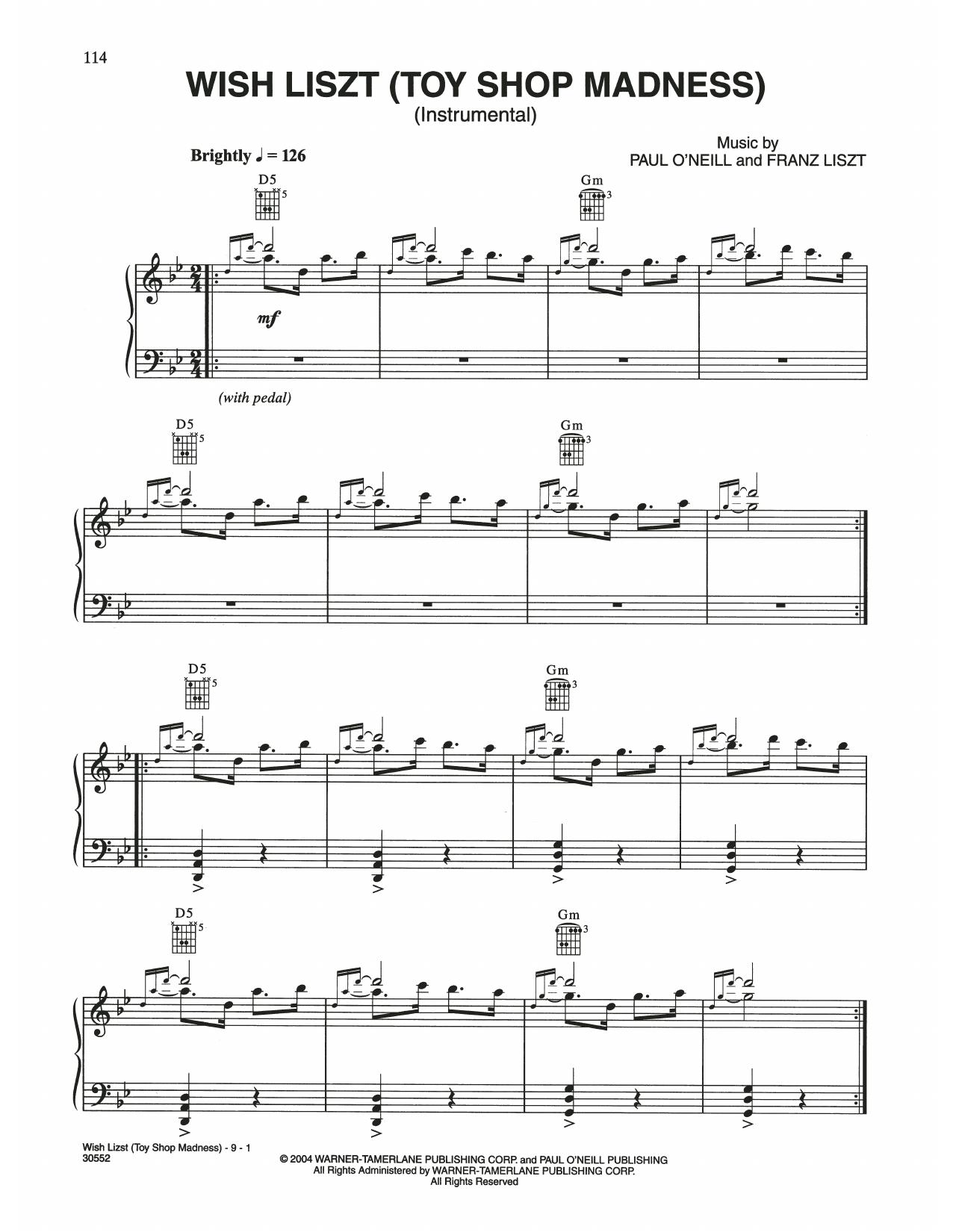 Wish Liszt (Toy Shop Madness) (Piano Solo)