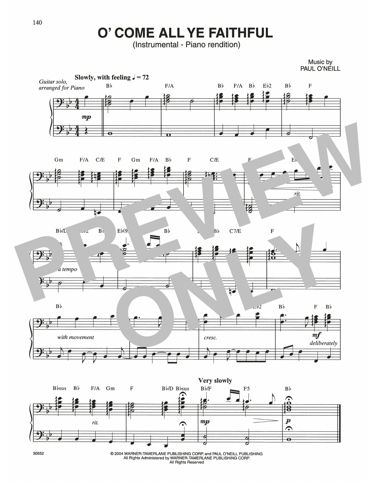 O' Come All Ye Faithful (Piano Solo)