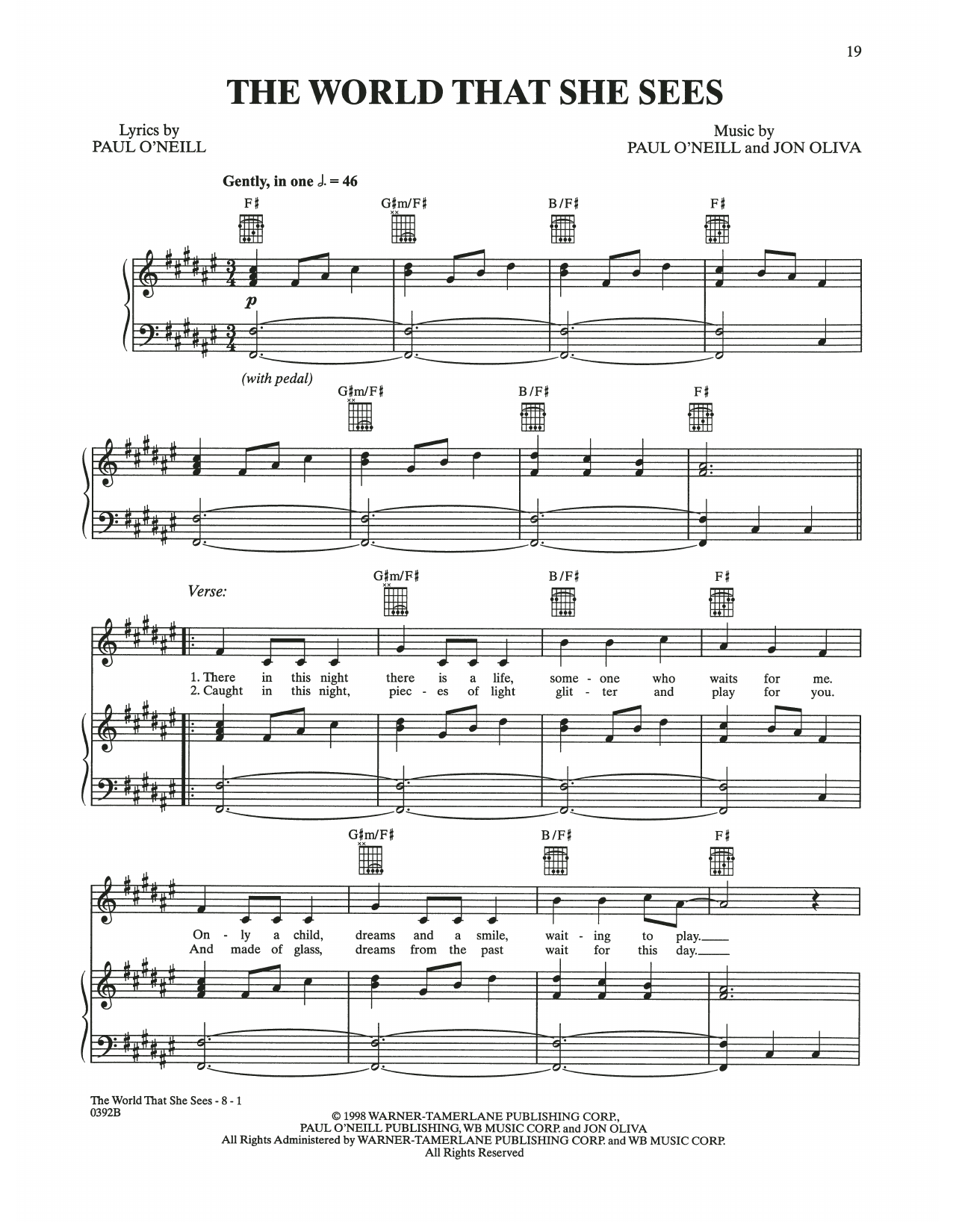 The World That She Sees (Piano, Vocal & Guitar (Right-Hand Melody))